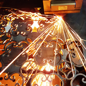 high precision mild steel cutting process